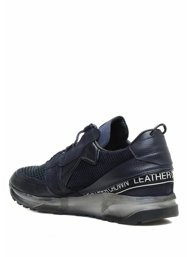 Leather Crown Sneakers Lacivert
